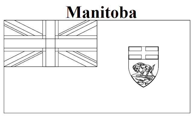 manitoba blank map