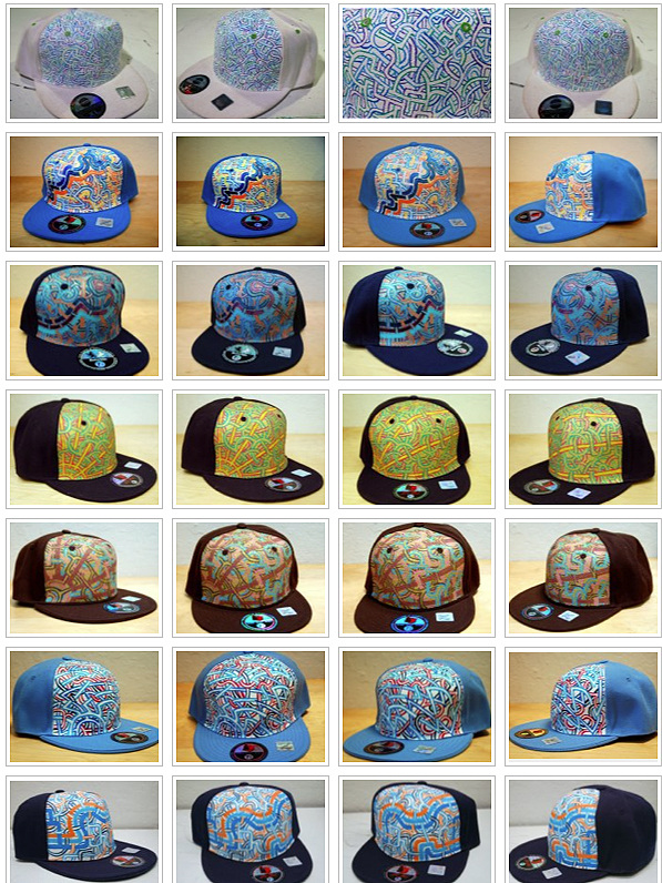 Hand-Painted Hats By Meghan Oona Clifford Available on www.facebook.com/moretreesclothingcompany