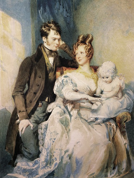 Daniel Maclise - Portrait of Mr and Mrs MacGregor with their child