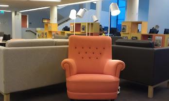 Loungepreg i bibliotekets 1. etasje