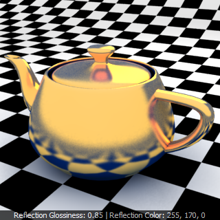 V-Ray Material ว่าด้วยเรื่อง Reflection Glossiness Chrome Rfgc13