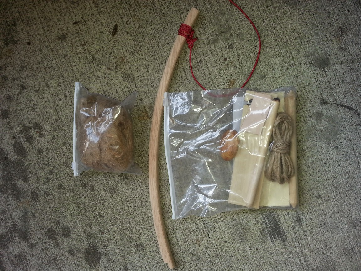 Primitive Fire Bow Drill Kit