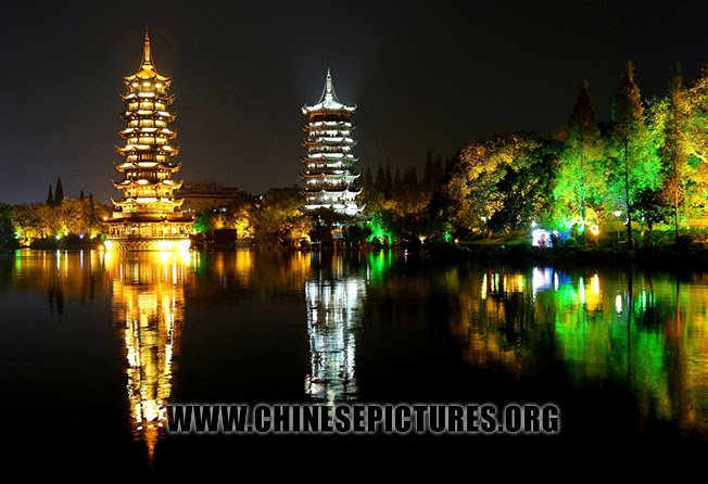 Sun & Moon Twin Towers in Guilin Photo 1