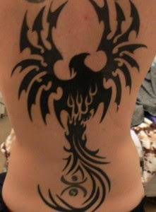 black pheonix tattoos