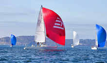 J/80s sailing J/Fest San Diego- one-design sailboat ultimate competition