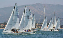 J/70s sailing off start- Santa Barbara YC Fiesta Cup
