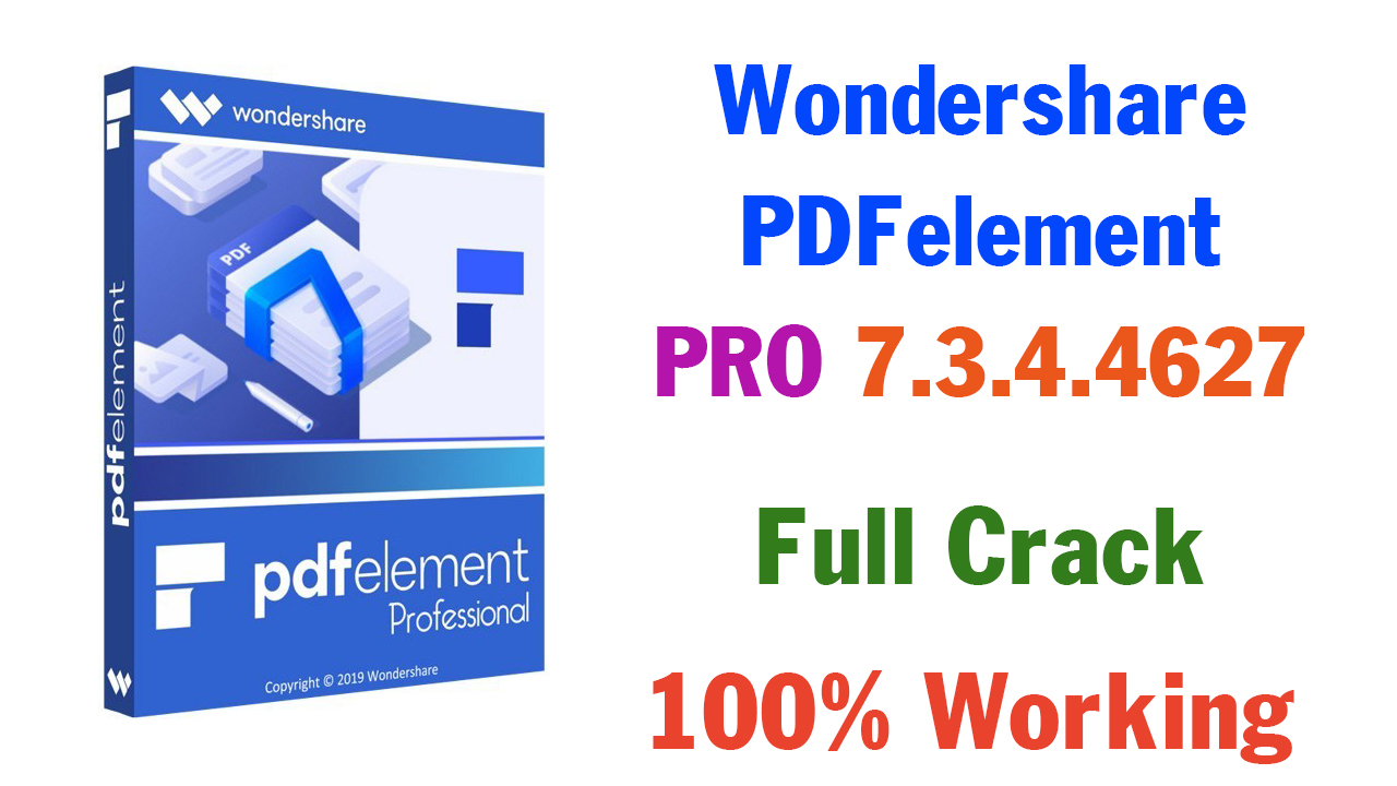 Wondershare PDFelement Pro 7.3.4.4627 Full Version With License Key 2020 (100% Working)