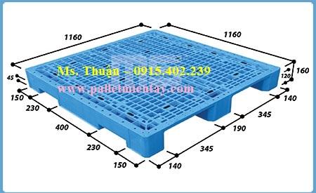 Pallet nhựa EN4-116116 nhập khẩu Malaysia