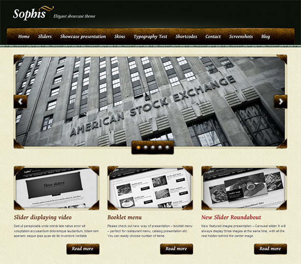 Sophis Vintage WordPress Theme