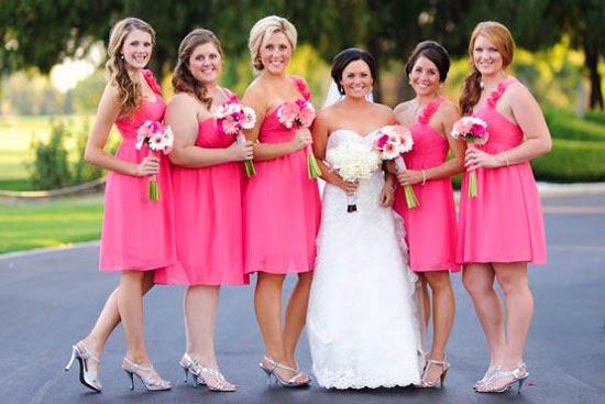 Casamento cor de rosa - vestido de madrinha (dama de honra) pink