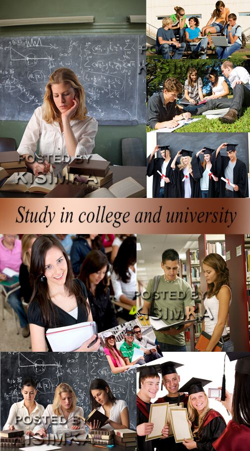 Stock Photo: Study in college and university
