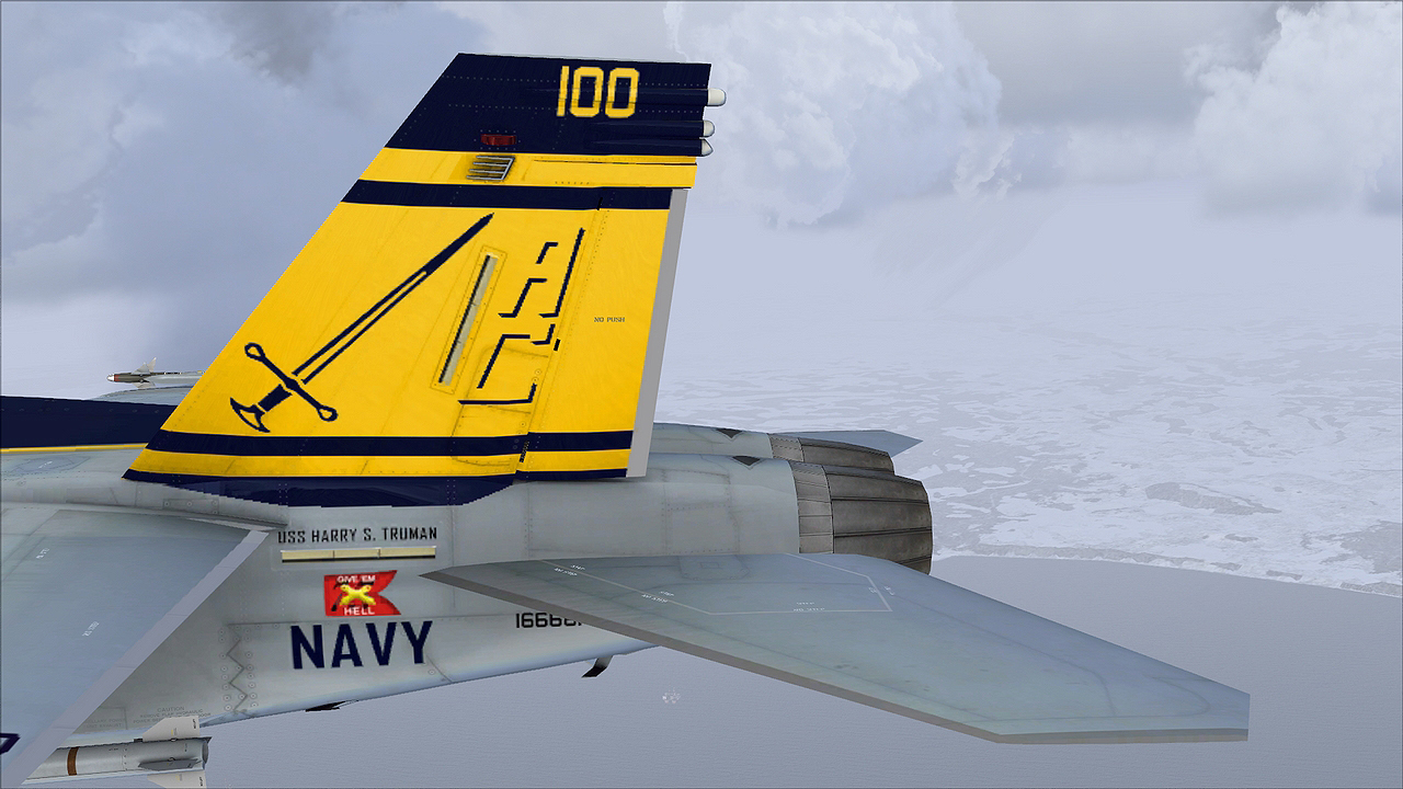 A great repaint for the FSX VRS Superbug F/A18E