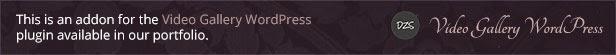Video Player 360 WordPress - Video Gallery DZS Add On - 1