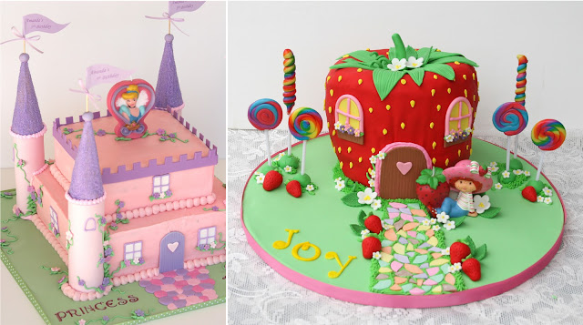 Fondant covered cakes ~