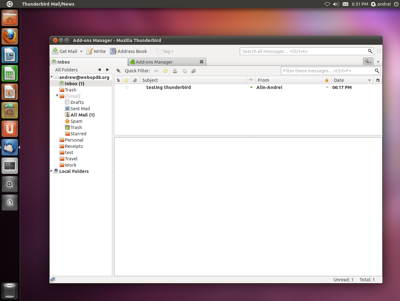 Thunderbird Made Default In Ubuntu 11 10, Final Default