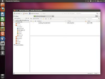 Thunderbird Ubuntu 11.10 Oneiric Ocelot