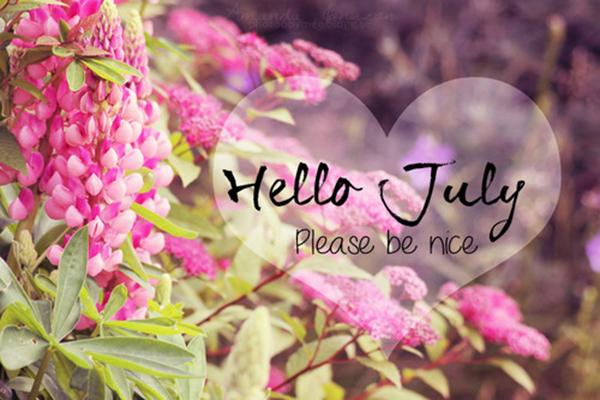 ảnh chào tháng 7 dễ thương