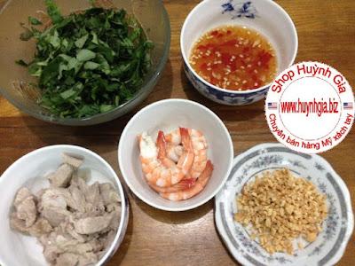 Gia vị làm Bún số 8 trộn tôm thịt món ăn dễ làm ăn là ghiền www.huynhgia.biz
