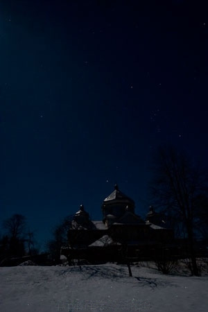 A Igreja Hutsul na noite antes do Natal