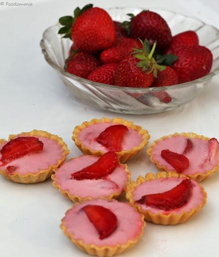 Strawberry Tarts Recipe   Quick Strawberry Pudding Tartlets