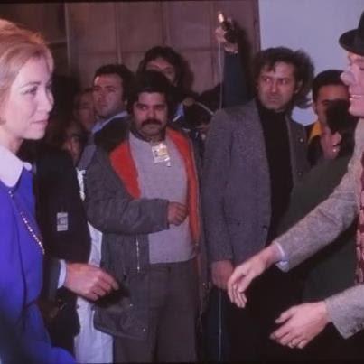Fofito saludando a la Reina Doña Sofía