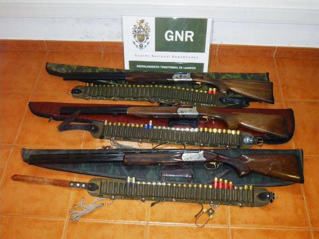 GNR de Lamego faz detenções por furto e caça ilegal