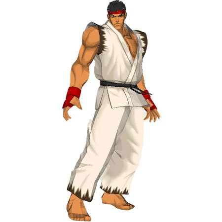Street Fighter Papercraft Ryu