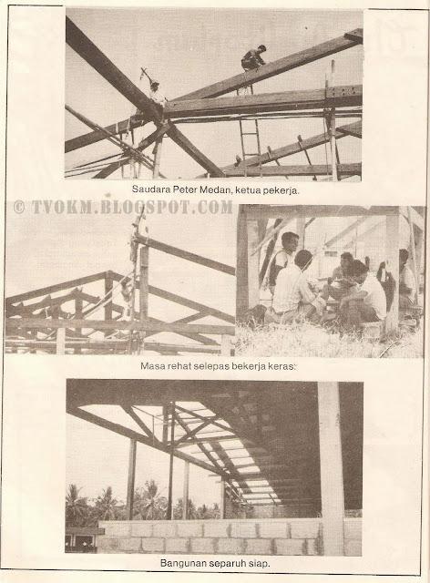 dewan sekolah goshen sedang dibina 1981