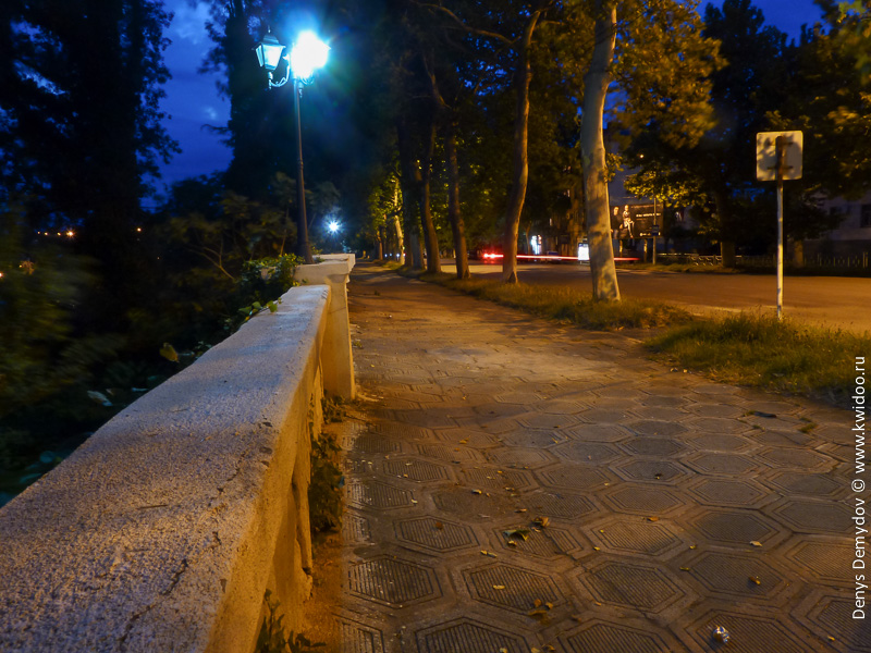 Ночная дорога к Kutaisi Hostel
