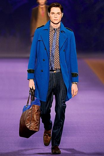 Mėlynas ETRO paltas