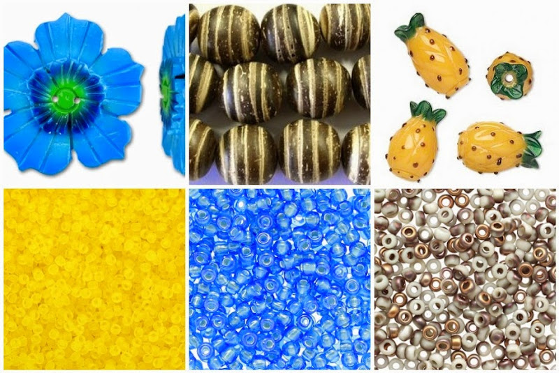 Pina Colada Bead Mood Board