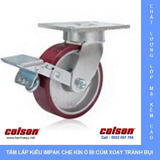 Bánh xe đẩy công nghiệp có khóa chịu tải trọng nặng (540~680kg)