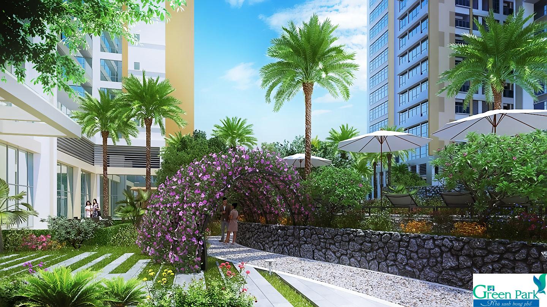 Không gian xanh dự án Phương Đông Green Park