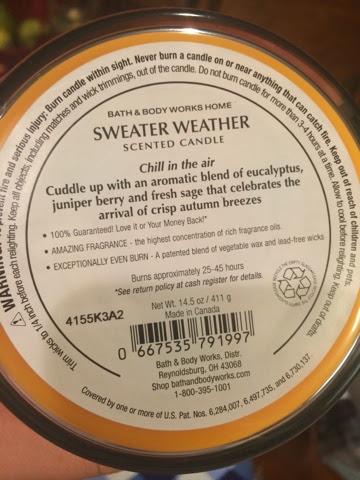 Actually Erica Bath And Body Works Sweater Weather Sugared