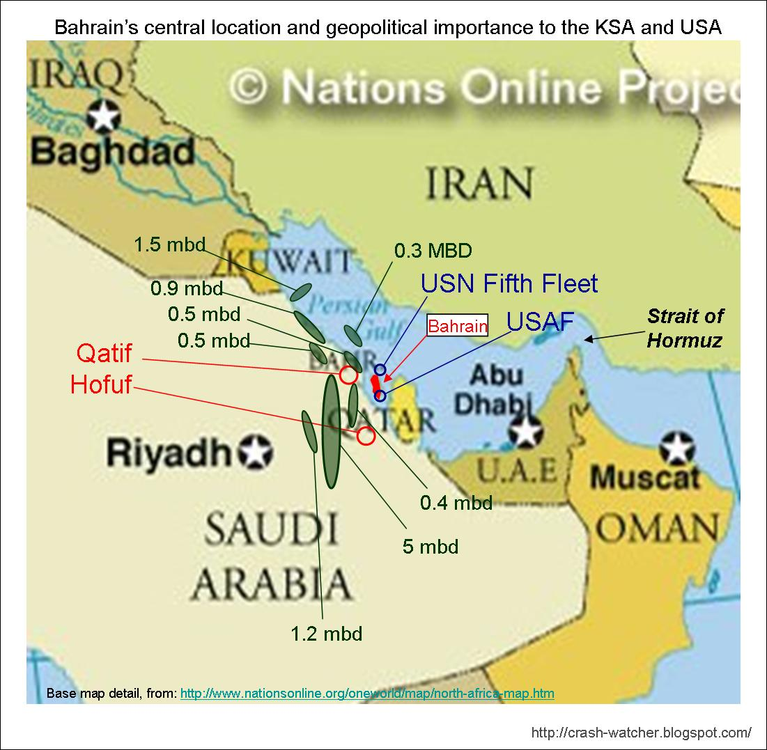 Bahrain and us map