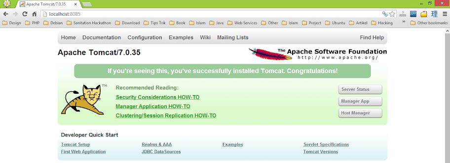 Apache Tomcat Running