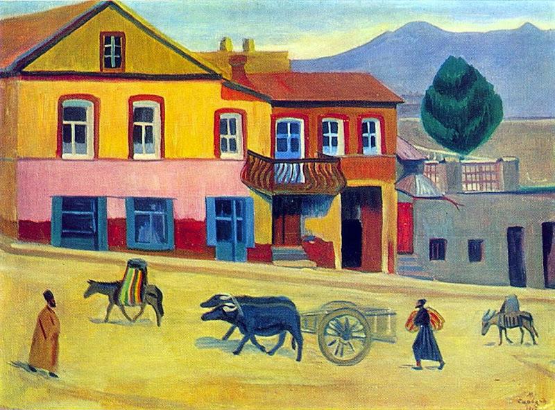 Martiros Saryan - Old Tbilisi, 1917