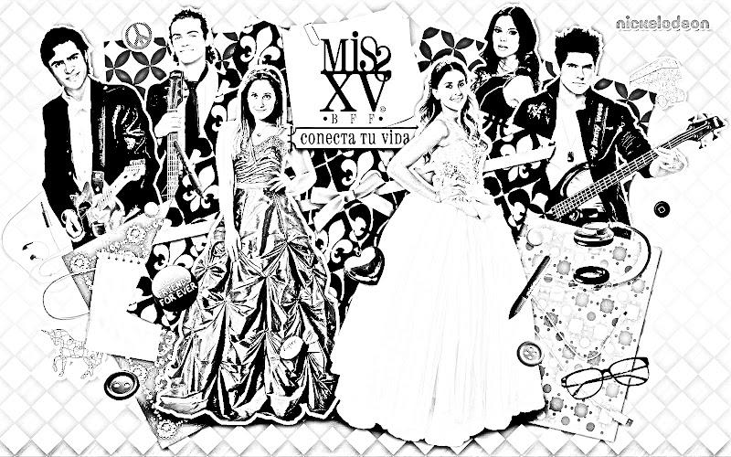 Pinto Dibujos Miss XV para colorear