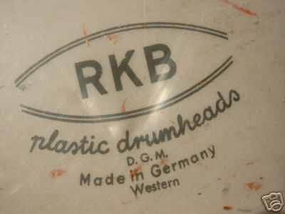 RKB plastic drumheads D.G.M. Made in Germany Western