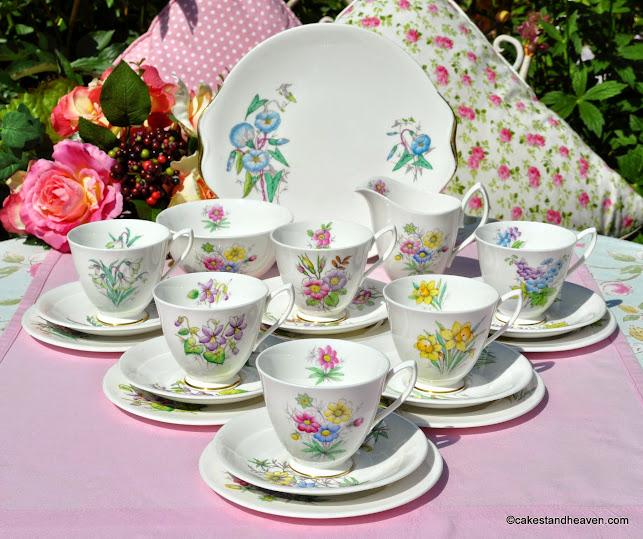 Royal Albert Flower of the Month Complete Tea Set