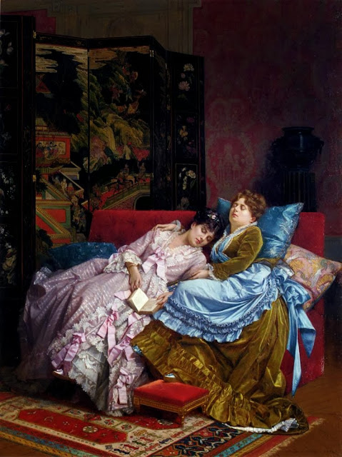 Auguste Toulmouche - An Afternoon Idyll