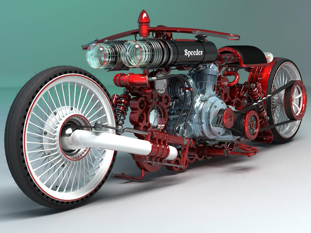 MOTORCYCLE 74  Speeder Mechanicus   the art of motorcycles by