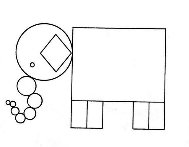 Dibujos De Figuras Geometricas Para Colorear E Imprimir: Pinto Dibujos: Elefante De Figuras Geométricas Para Colorear
