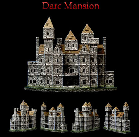 Darc Mansion Papercraft