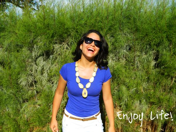 cobalt blue leopard leggins statement necklace