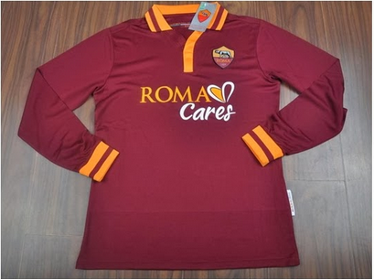 Jual Jersey Lengan Panjang AS Roma Home 2014