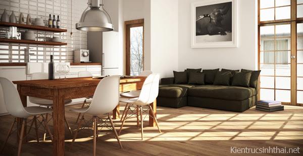 Mẫu thiết kế nội thất căn hộ chung cư hiện đại.