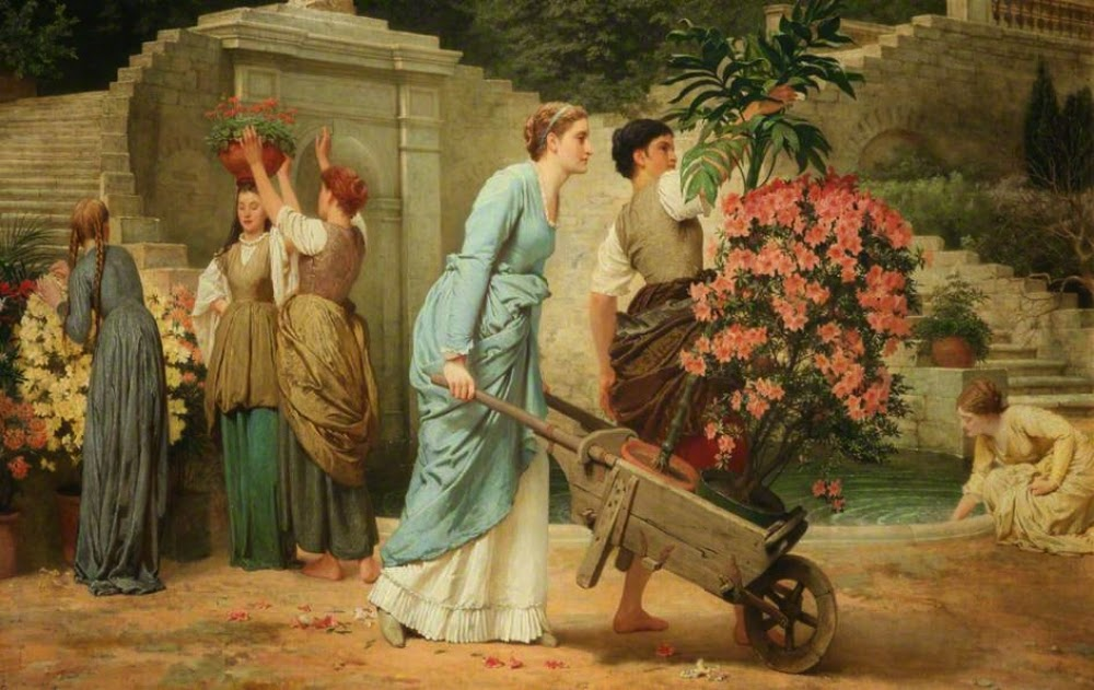 Charles Edward Perugini - Playing at Work