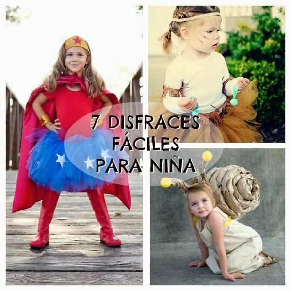 7 disfraces para niñas fáciles de hacer - Halloween y Carnaval