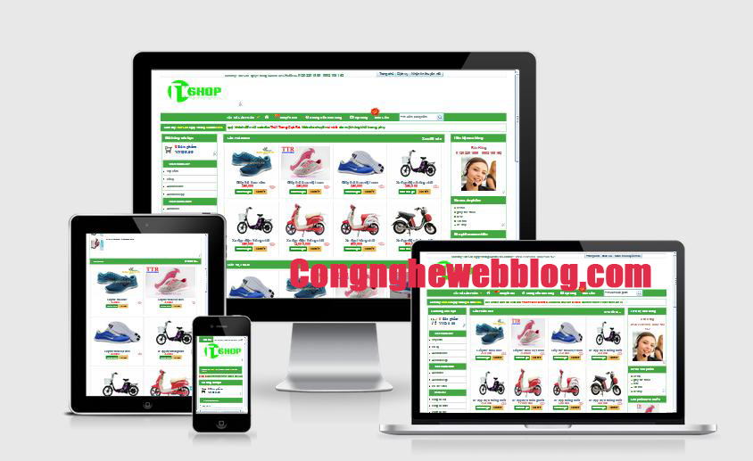 Share template bán hàng đẹp chuẩn seo